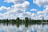 Die Sieben Türme von Lübeck, Deutschland