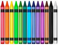 Colorful Wax Crayons