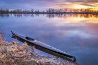 sunrise kayak paddling and training