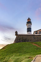 Tower of the historic and famous Farol da Barra