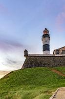 Tower of the historic and famous Farol da Barra