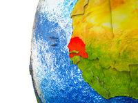 Senegal on 3D Earth