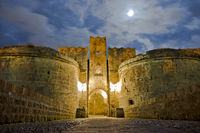 Rhodes Old City By Night, Full moon, Greece