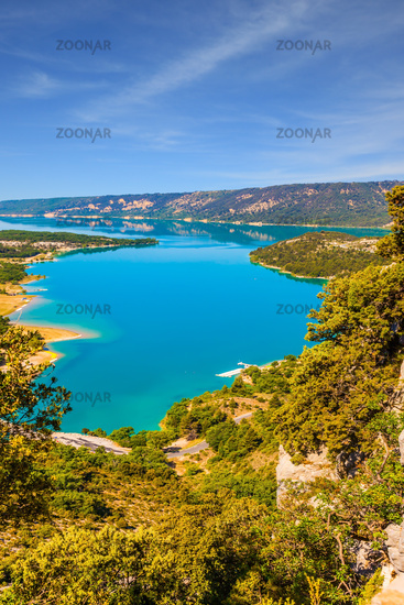The river flow in Verdon Canyon