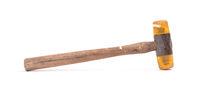 Old wooden hammer
