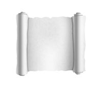 Old white textured scroll on white