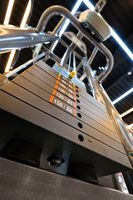 Gym interior with multistation machine