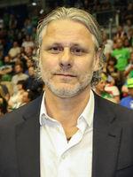 Torwart Christian Gaudin (ehem. SC Magdeburg) beim Ottostadt Magdeburg EHF-Cup Finals 2018