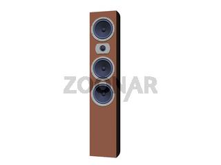 Stand Lautsprecher mit Membranen