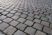 closeup of a cobblestone road for backgrounds