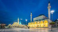 Konya city wih view of Selimiye Mosque and Mevlana Museum in Turkey
