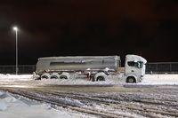 Tank Truck In Snow