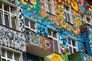 Buntes Haus in Berlin. Deutschland