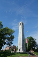 The bell tower on NC State campus in Raleigh