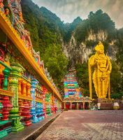 Colorful stairs of Batu caves. Malaysia