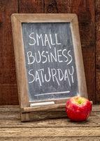 Small Business Saturday blackboard sign