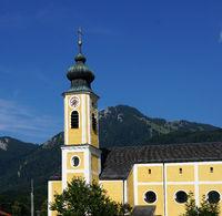 Kirche in Unterwössen im Chiemgau, Bayern,