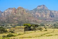 Grosser Afrikanischer Grabenbruch, Gheralta Bergmassiv, Tigray, Äthiopien