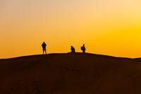 Sunset Photographers in the Desert