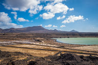 Salinas de Janubio, saltworks in Lanzarote, Canary Islands, Spain