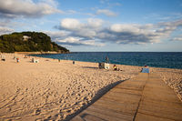 Platja de Fenals Beach in Lloret de Mar in Spain
