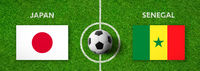 Football match Japan vs. Senegal
