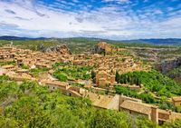die mittelalterliche Stadt Alquezar, Aragon, Spain - the medieval town of Alquezar, Aragon, Spain