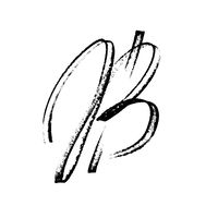 Bitcoin sign - Modern calligraphy