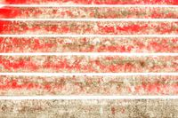 Rote Treppenstufen