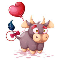 Cute, funny cartoon cow characters.