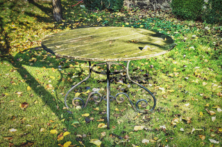 alter Tisch im Garten | old table in the garden