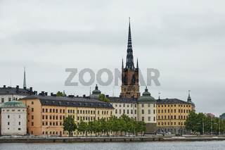 Panoramic view of Stockholm city and Evert Taubes Terrass from Stockholm city hall
