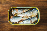 Canned sardines in olive oil