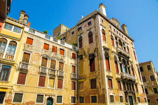 Historic architecture of Venice on a sunny day