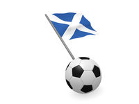 Soccer ball with the flag of Scotland