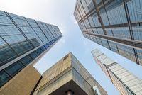 IFS buildings against blue sky in Chengdu