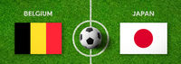 Football match Belgium vs. Japan