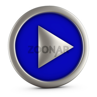 Blue play button