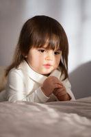 Little girl praying in the morning