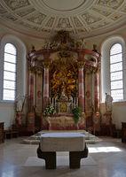 Altar in der Dreifaltigkeitskirche auf dem Dreifaltigkeitsberg,  Schwäbische Alb