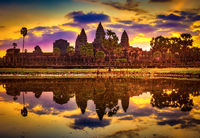 Angkor Wat temple at sunrise. Siem Reap. Cambodia.
