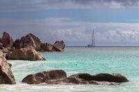 Segelboot auf den Seychellen