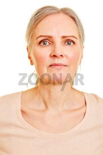Biometrisches Passfoto einer Seniorin