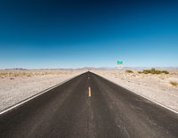Open highway in Nevada desert