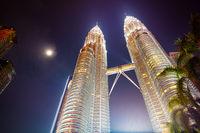 Malaysia City Skyline at Night