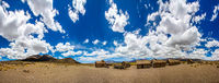 Panorama of a Bolivian Famming Village