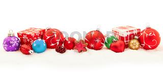 Buntes Weihnachten Hintergrund Banner