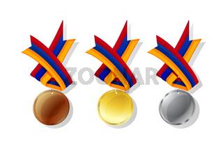 Armenian vector medals set