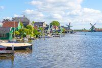 A view of Zaandijk's Gortershoek near Zaandam in Netherlands