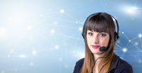 Female telemarketer c